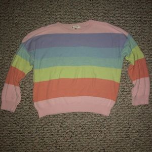 Rainbow Pastel Striped Sweater